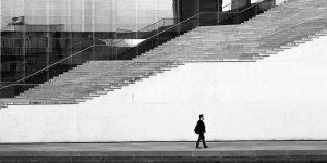 Person walking steps
